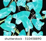 seamless floral pattern with... | Shutterstock . vector #510458890