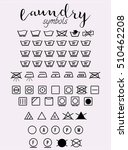 laundry symbols and icons set  | Shutterstock . vector #510462208