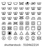 laundry symbols and icons set  | Shutterstock . vector #510462214