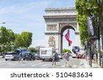 paris  france  on july 10  2016.... | Shutterstock . vector #510483634