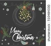merry christmas vintage card... | Shutterstock .eps vector #510484330