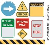 signs set | Shutterstock .eps vector #510484528