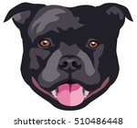 graphic portrait of the dog... | Shutterstock .eps vector #510486448