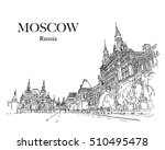 moscow  russia  historical... | Shutterstock .eps vector #510495478