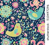 seamless pattern with cartoon... | Shutterstock .eps vector #510497296