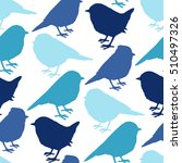 seamless background with birds... | Shutterstock .eps vector #510497326