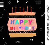 happy birthday colorful... | Shutterstock .eps vector #510499024