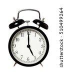 one black alarm clock displays... | Shutterstock . vector #510499264