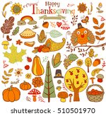 thanksgiving design elements... | Shutterstock .eps vector #510501970