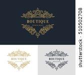 monogram design elements ... | Shutterstock .eps vector #510502708