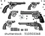 guns  revolver collection set... | Shutterstock .eps vector #510503368