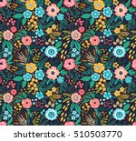amazing floral pattern with... | Shutterstock .eps vector #510503770