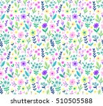 cute seamless pattern in small... | Shutterstock .eps vector #510505588