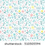 seamless pattern with flowers... | Shutterstock .eps vector #510505594