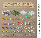 isometric world. set of... | Shutterstock .eps vector #510529750