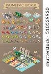 isometric world. set of... | Shutterstock .eps vector #510529930