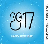 happy new year 2017 background. ... | Shutterstock .eps vector #510531208