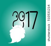 happy new year 2017 background. ... | Shutterstock .eps vector #510531214