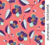 vector hibiscus pattern.... | Shutterstock .eps vector #510536458