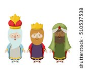 the three wisemen cartoon design | Shutterstock .eps vector #510537538