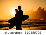 Golden Sunset In Ipanema Beach...