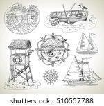 design graphic set engraved... | Shutterstock .eps vector #510557788