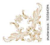 gold vintage baroque element... | Shutterstock .eps vector #510564394