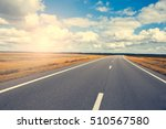 beautiful and sunny road... | Shutterstock . vector #510567580