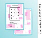 wedding invitation card or... | Shutterstock .eps vector #510571024