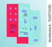 wedding invitation card or... | Shutterstock .eps vector #510571030