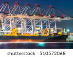 industrial port with containers | Shutterstock . vector #510572068