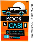 book a cab with text box and... | Shutterstock .eps vector #510575920
