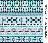 ethnic seamless pattern with... | Shutterstock .eps vector #510590986