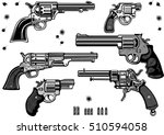 guns  revolver collection set... | Shutterstock .eps vector #510594058