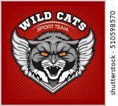 wild cat head   design for logo ... | Shutterstock .eps vector #510598570