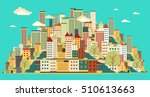 flat design urban landscape... | Shutterstock .eps vector #510613663