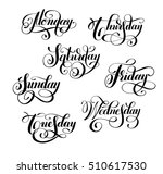 day of the week collection ... | Shutterstock .eps vector #510617530
