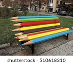 bench of colorful pencils | Shutterstock . vector #510618310