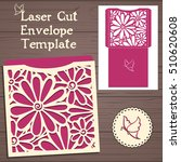 lasercut vector wedding... | Shutterstock .eps vector #510620608