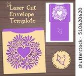 lasercut vector wedding...   Shutterstock .eps vector #510620620