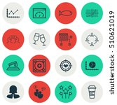 set of 16 universal editable...   Shutterstock .eps vector #510621019
