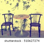 old chairs and white stone... | Shutterstock . vector #510627274