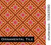 ornamental victorian mosaic... | Shutterstock .eps vector #510635080