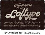 vintage bold calligraphic brush ... | Shutterstock .eps vector #510636199