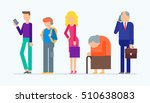 vector set of people   young... | Shutterstock .eps vector #510638083