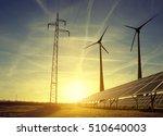 electricity transmission pylon... | Shutterstock . vector #510640003