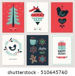 merry christmas and happy new... | Shutterstock .eps vector #510645760