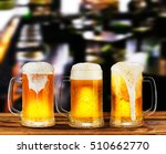 cold light beer glass mug in a... | Shutterstock . vector #510662770