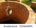the steel bucket of water on... | Shutterstock . vector #510666004