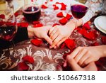 offer hand.holding hands with... | Shutterstock . vector #510667318